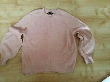M & S Alpaca Mix Jumper Coral Pink Size M