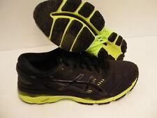 Asics men's gel kayano 24 running shoes black green gecko size 9 us