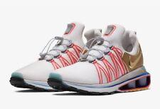 New Nike Shox Gravity Metallic Gold Vast Grey Blue Red AQ8553-009 Sz 11