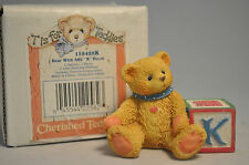 "Cherished Teddies - Bear with Abc ""K"" Block - 1