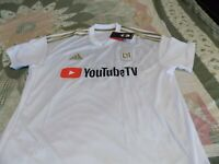Men's Adult LAFC Adidas MLS Jersey Los Angeles FOOTBALL CLUB White & Gold LARGE