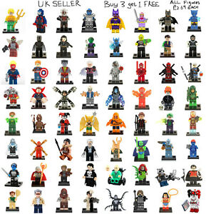 Marvel & DC Minifigure Lego &Custom Spider Man Joker Avengers Batman Mini Figure
