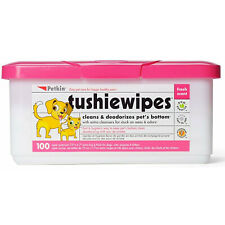 Petkin Tushie Gentle Wipes for Dogs & Cats 100pk Cleans & Deodorises Pets Bottom