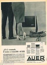 PUBLICITE ADVERTISING 095  1962  AUER   chauffage d'appoint au gaz