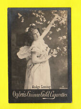 OGDENS GUINEA GOLD - SCARCE LARGE PHOTO CARD - ACTRESS -  MADGE LESSING 3 - 1900