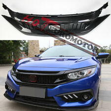 Carbon FIber RS Turbo Front Grille&Headlight eyebrow for Honda Civic 16 17 18