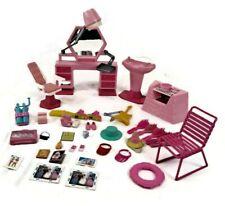 BARBIE Doll Size Furniture Beauty Salon + Fashion Accessories LARGE Lot