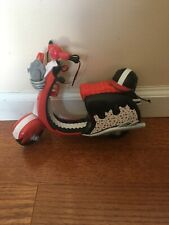 MONSTER HIGH Ghoulia Yelps Scooter with helmet and backpack EUC