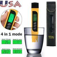 3 in 1 Digital Water Quality Tester TEMP PPM Test Filter Pen TDS EC Purity Meter