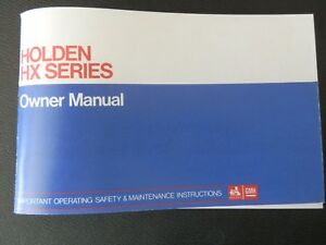 HOLDEN HX OWNERS MANUAL
