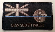 NSW Police Patch, State Flag, Thin Blue Line, Subdued, TBL, Law Enforcement
