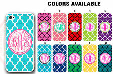 CUSTOM Personalized Mint Blue Pink Trellis Monogram Case For iPhone XS XR 8 7 6S