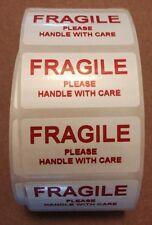 250 Lucida in PVC Impermeabile Mini etichette Fragile