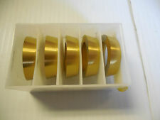 NEW LOT OF 5 GTC SOLID CARBIDE I.D. RINGS GTC-1238 GTC1238 #1 GTC-01 COATED