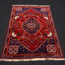 Orient Teppich Rot 163 x 122 cm Perserteppich Nomadenteppich Carpet Rug Alfombra