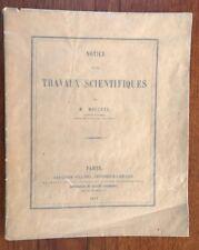 NOTICE SUR LES TRAVAUX SCIENTIFIQUES DE M. MOUCHEZ CAPITAINE DE VAISSEAU 1875