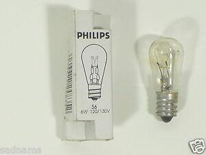 Philips S-6 6W 130V Clear Candelabra Base Lamp light bulb