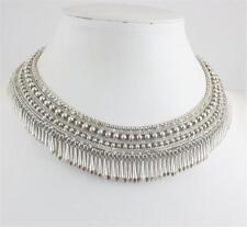 New Stella & Dot Tansy Fringe Collar Necklace Silver Tone