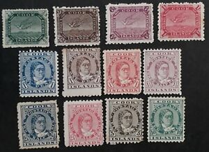 RARE 1893- Cook Islands lot of Queen Makea Takau & Wrybill stamps Mint