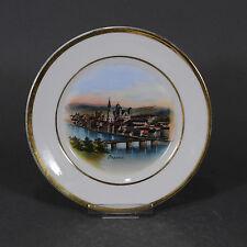 Passau viste piatto Regensburger PORCELLANA fabbrica? Piatto Wall Plate