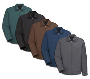Red Kap Men's Slash Pocket Jacket Mechanic Technician Industrial Work Uniform