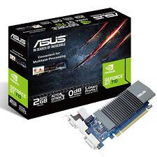 ASUS  NVIDIA GeForce GT 710 2 GB 5012 MHz GDDR5 Low Profile Grafikkarte HDMI VGA