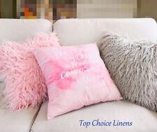 45cm x 45cm Home Decor Faux Fur Plush Cushion Cover Pink Suede Cover Pillow Case