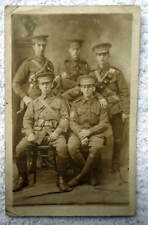 RPPC POSTCARD GROUP OF FOREIGN SOLDIERS IN UNIFORM #1