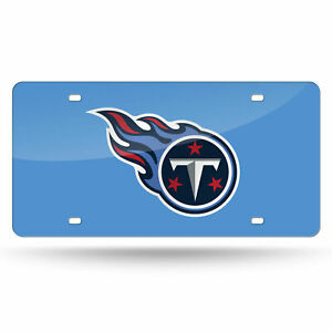 Tennessee Titans NFL Blue Laser Tag License Plate