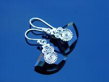 Black Onyx Natural Gemstone 925 Sterling Silver Earrings Healing Stone Chakra