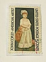 United State Postal Service Used Stamp, 5 cents, John Copley, An American Artist