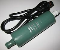 Rule iL280PG In-Line Submersible Water Pump w/ 15 Foot Cable - 12 V DC - 280 GPH