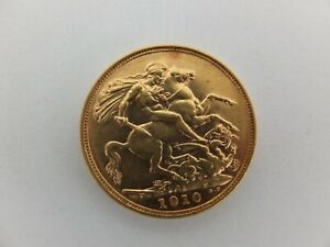 1910 Gold Full Sovereign Bullion Coin