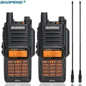 18W BAOFENG UV-9R PLUS DUAL BAND VHF UHF 2 WAY WALKIE TALKIE HAND FUNKGERÄTE DE
