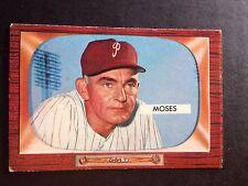 1955 BOWMAN # 294 WALLY MOSES - PHILADELPHIA PHILLIES - EX-MT+