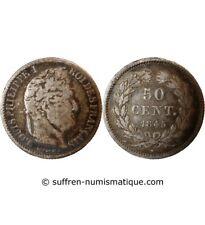LOUIS PHILIPPE - 50 CENTIMES ARGENT 1845 B ROUEN