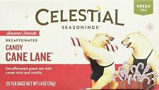Candy Cane Lane Decaffeinated Holiday Tea by Celestial Seasonings, Pack of 1