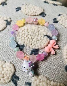 Rare ! Snow Charmmy Kitty Bunny Bracelet Sanrio Hello KT Charm TARINA Tarantino