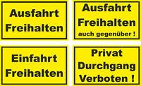 Ausfahrt Freihalten Aufkleber Parken Verboten Wetterfest Schild Halteverbot