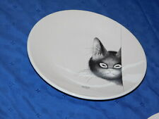 Dubout Ed Clouet Cat peeking at mouse plate mouse reflection in cat eyes France