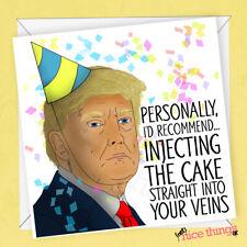 Donald Trump Funny Birthday Card, Lockdown Card, Funny Virus Birthday Cards