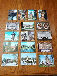 16 Vintage Postcards, Uppsala Sweden, Unposted.
