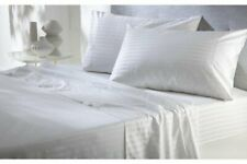 Extra Deep Pocket 3 PCs Fitted Sheet Egyptian Cotton 1000 TC White Striped
