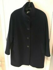 db4eebb09c5 Cinzia Rocca Due Pure VIrgin Wool Navy Ladies A Line Coat Size 22