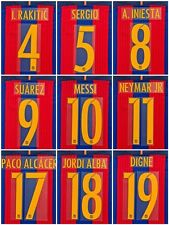 2016 -17 Barcelona Player Issue shirt  Home Name Set  Avery Match Messi Iniesta