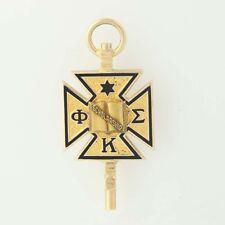 Rare Phi Kappa Sigma Scholarship Cross Key Fob 10k Gold Vintage 1949 Fraternity