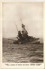 More details for scapa flow, orkney. scuttled german battleship bayern # 3 by c.w.burrows