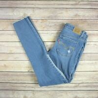 LEVI'S Girls' 710 Super Skinny Patch Distressed Jeans SIZE 14 Regular