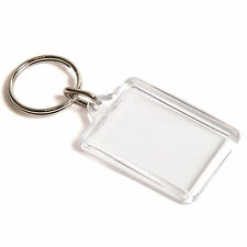 1000 QUALITY BLANK CLEAR KEYRING'S 35 x 24 IND BAGGEDY1