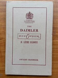 Handbook One-0-four Daimler 3.5 Saloon 1955 Brochure Manual Part S
